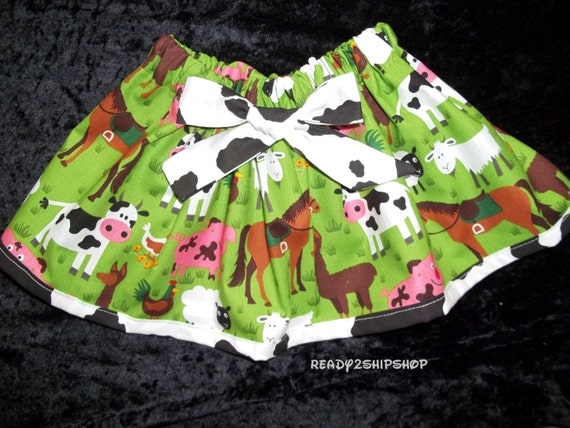 Barnyard Birthday Party Farm Baby Girl Outfit Dress Tutu Skirt