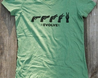 Women's Evolve V Neck- Green