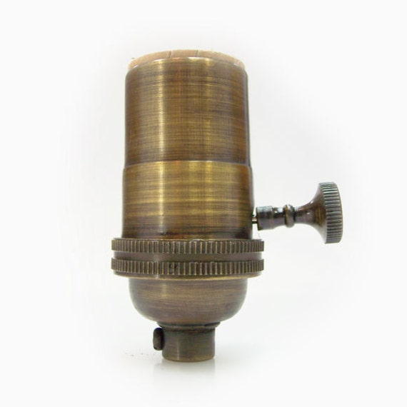 Electrical Lamp Socket Light Socket Antique Brass Finish