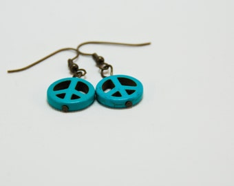Turquoise CND beaded earrings