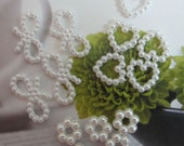 Bow Heart Flower Pearl Beads 40pcs For Wedding Dress Bridal Costume Headware Supplies