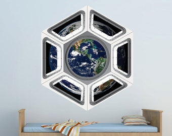 Space Shuttle Cupola Wall Decal   Viewing Earth From Space Wall Decal By  WallJems   Space