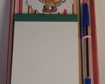 Magnetic note pad with exchangeable note Bock
