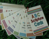 ABC Scripture Cards Bible Memory Verses Christian Gift Scripture Gifts
