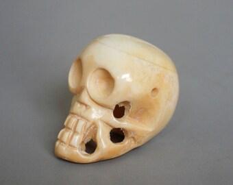 Tibetan Yak Bone Skull Beads 38mm x 26mm - A288