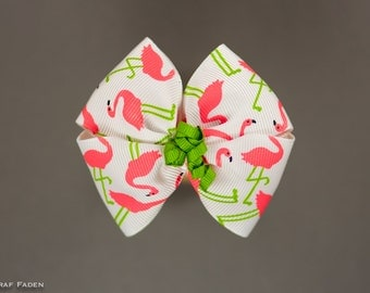 Flamingo Fun Korker Hair Bow - Summer Fun