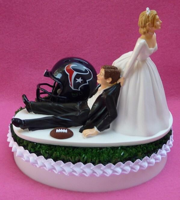 wedding cake topper houston texans football themed sports turf. Black Bedroom Furniture Sets. Home Design Ideas