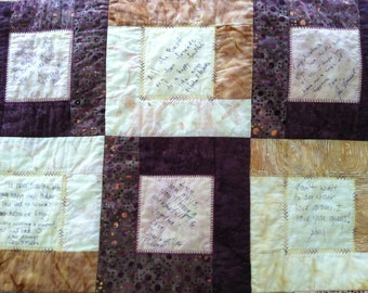 Wedding Guest Book Quilt