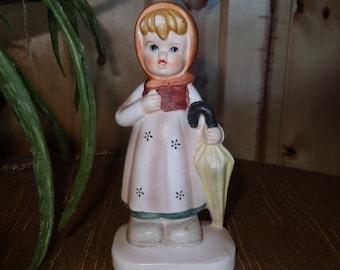 Vintage Lambro Girl w/ Umbrella ~ Collector's Choice Series