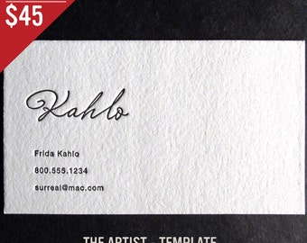 100 Custom Letterpress Business Cards - The Artist