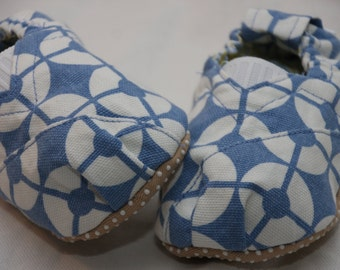 Blue Mod Circles Toms Style Baby Shoes