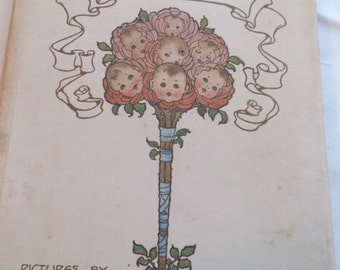 """Antiquarian book """"My Birthday"""" pictures by Millicent Sowerby"""