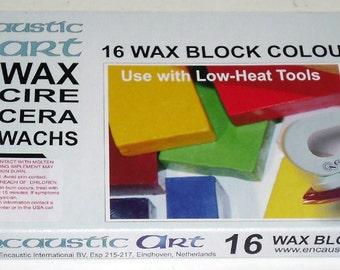 Encaustic Art Wax 16 Wax Block Colors Expanding Set Encaustic Wax New in the Box