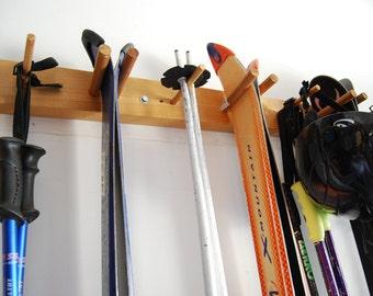 8 ski wall storage rack