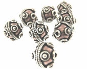 50% OFF SALE 2 pcs 10mm Oxidized Bali Thai Antique 925 Sterling Silver and Copper handmade Bead Spacer