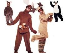 Children's Halloween, Christmas Costumes: Panda Bear, Kangaroo, Reindeer & Koala - Children's Size 2 to 4 - FF Pattern McCall's 3351