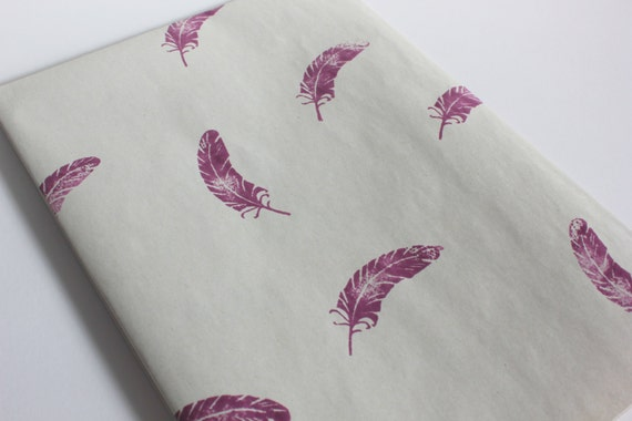 Light as a Feather Grape Hand-Stamped Wrapping Paper // Gift Wrap // Paper Supplies // Paper Goods // Gifts // Large Sheet