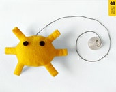 Cat toy. Yellow crab