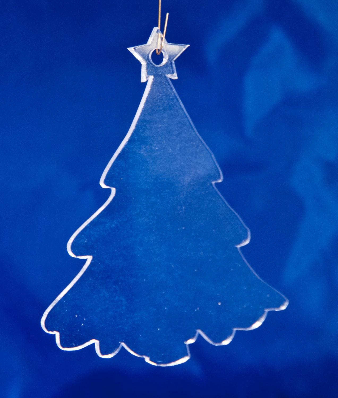 Clear Acrylic Christmas Ornaments