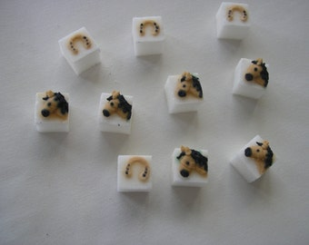 28 Pcs Decorated Sugar Cubes Horse Collection     Simply Darling