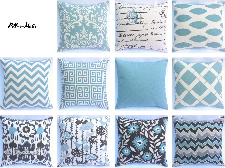 Light Blue Decorative Throw Pillows : Chandeliers & Pendant Lights