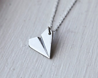Paper Airplane Necklace- Inspired by Harry Styles from One Direction - PERFECT STOCKING STUFFER