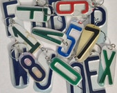 Initial Letter or Number KEYCHAIN or ORNAMENT handmade from Actual USA License Plates