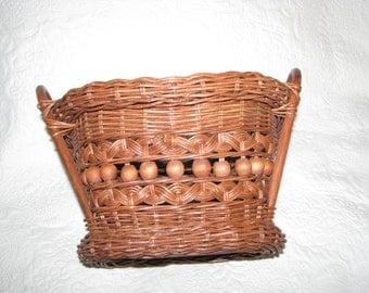 Victorian Wicker Basket