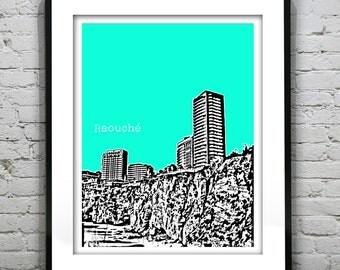 Raouche Beirut Lebanon Skyline Poster Art  Avenue de Paris