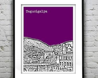 Tegucigalpa Honduras Poster Print Skyline Art
