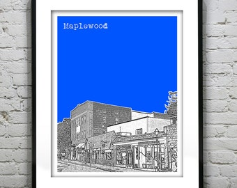 Maplewood New Jersey Poster Print Art NJ