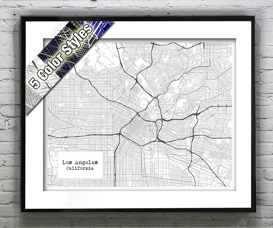 Holiday Sale Los Angeles Calfornia Blueprint Map Poster