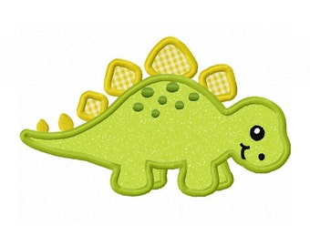Stegosaurus Applique Machine Embroidery Design NO:0086