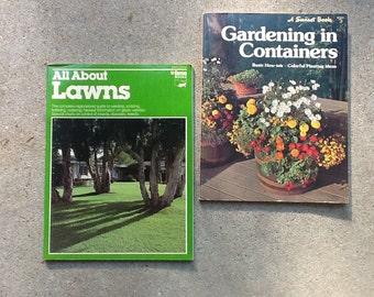 Vintage gardening manuals / vintage gardening books / container garden