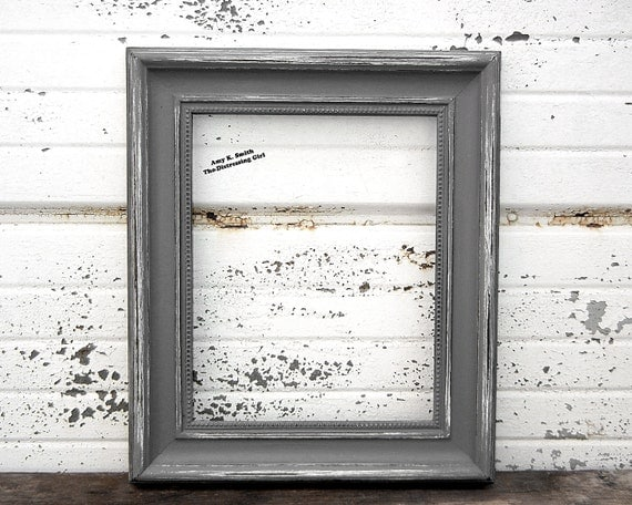 frame grey 8x10 picture frame rustic 2 by thedistressinggirl. Black Bedroom Furniture Sets. Home Design Ideas