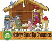 NATIVITY Stand Up  - Downloadable PDF Only