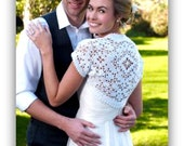 Elegant Bridal Shrug, Lacy, Small - XX Large, Plus Size, Wedding, Crochet, Lacy, Jacket
