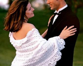 Heirloom Bridal Shawl Wedding Shawl Bridal Wedding Wrap White Shawl Handmade Wedding Shawl Gift for the Bride Little Black Dress Topper