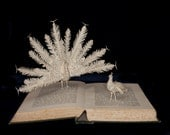 """Photographic Print of Book Sculpture 'The Courtship of Animals' 10"""" x 8"""""""