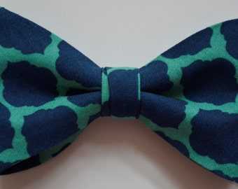 Mens bow tie, Bow ties for men, Bowties for men, kids bow tie, boys bow tie, navy blue and green