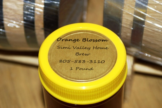 All Natural & 100% Organic Raw Southern California ORANGE BLOSSOM Honey 1 Pound