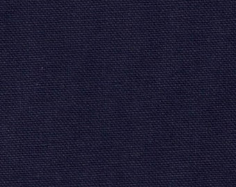 Fabric by the Yard Solid Navy Blue Cotton Duck