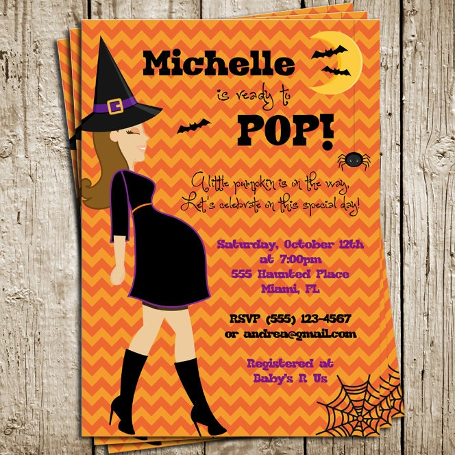 halloween baby shower digital printable invitation