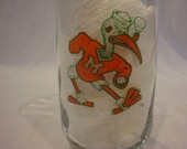 University of Miami Vintage Glass