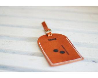 Leather Handmade Luggage Tag