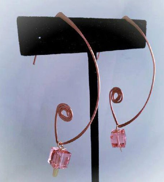 GORGEOUS Open French design earrings with your choice of crystal