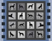 Gorgeous Greyhounds - Silhouette Pattern (Includes freezer paper templates & fusible webbing) Please contact me for other breeds