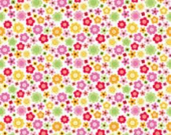 SALE   Ladybug Garden by Doodlebug Designs for Riley Blake in White floral