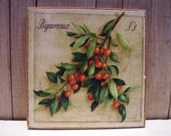 Bigarreaux Miniature Wooden Plaque 1:12 scale
