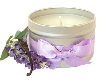 Vanilla Lavender Scented Candle Tin 8oz